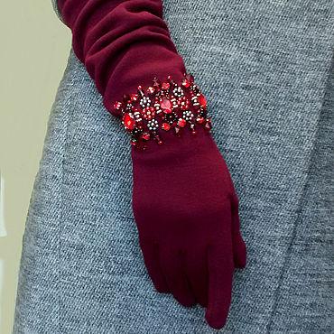Accessories handmade. Livemaster - original item Gloves with bracelets. Handmade.