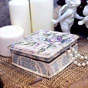 Для дома и интерьера ручной работы. Ярмарка Мастеров - ручная работа Винтажная шкатулка для украшений. Handmade.