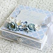 Открытки ручной работы. Ярмарка Мастеров - ручная работа Свадебная коробочка для денежного подарка. (В наличии). Handmade.