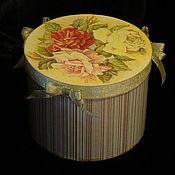 Для дома и интерьера ручной работы. Ярмарка Мастеров - ручная работа Шкатулка Винтажные розы. Handmade.
