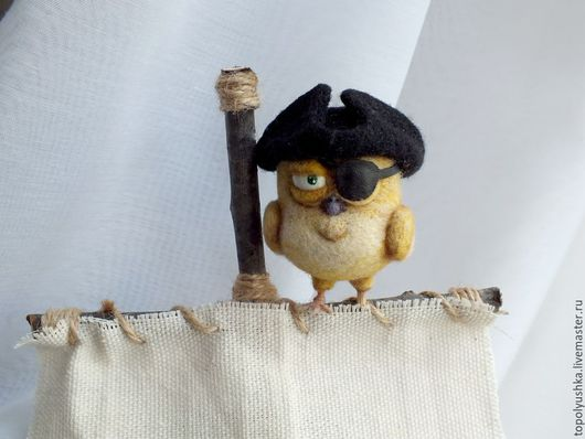 Игрушки животные, ручной работы. Ярмарка Мастеров - ручная работа. Купить Пират Канарейка Билли. Handmade. Желтый, кенарь, море