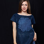 Одежда handmade. Livemaster - original item Felted tunic full Moon. Handmade.