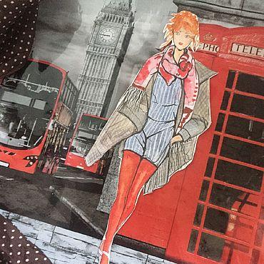 Картины и панно ручной работы. Ярмарка Мастеров - ручная работа Картина fashion иллюстрация. Handmade.