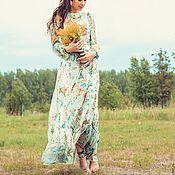 Одежда ручной работы. Ярмарка Мастеров - ручная работа Платье макси из шелк - шифона. Handmade.