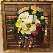 """Картины и панно handmade. Livemaster - original item """"Вдохновение"""" - объемная картина из кожи. Handmade."""