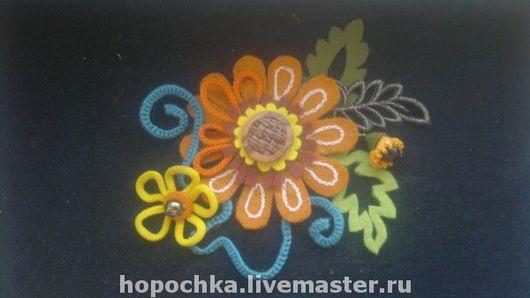 """Броши ручной работы. Ярмарка Мастеров - ручная работа. Купить Брошь """"Осенние цветы"""". Handmade. Брошь цветок, текстильная брошь"""