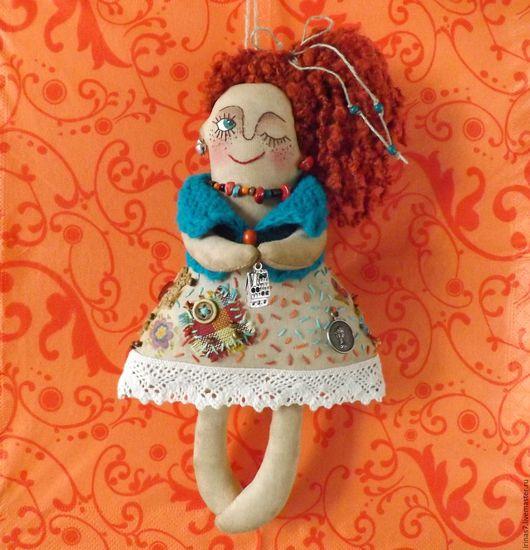 Ароматизированные куклы ручной работы. Ярмарка Мастеров - ручная работа. Купить Домовушка Рыжая Соня. Handmade. Оберег для дома, домовушка