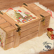 """Подарки к праздникам ручной работы. Ярмарка Мастеров - ручная работа Новогодний ящик """"Скоро Новый год"""", новогодняя упаковка. Handmade."""