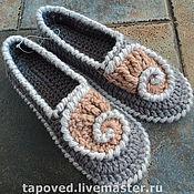 """Обувь ручной работы. Ярмарка Мастеров - ручная работа Тапы """"Ракуша"""". Handmade."""