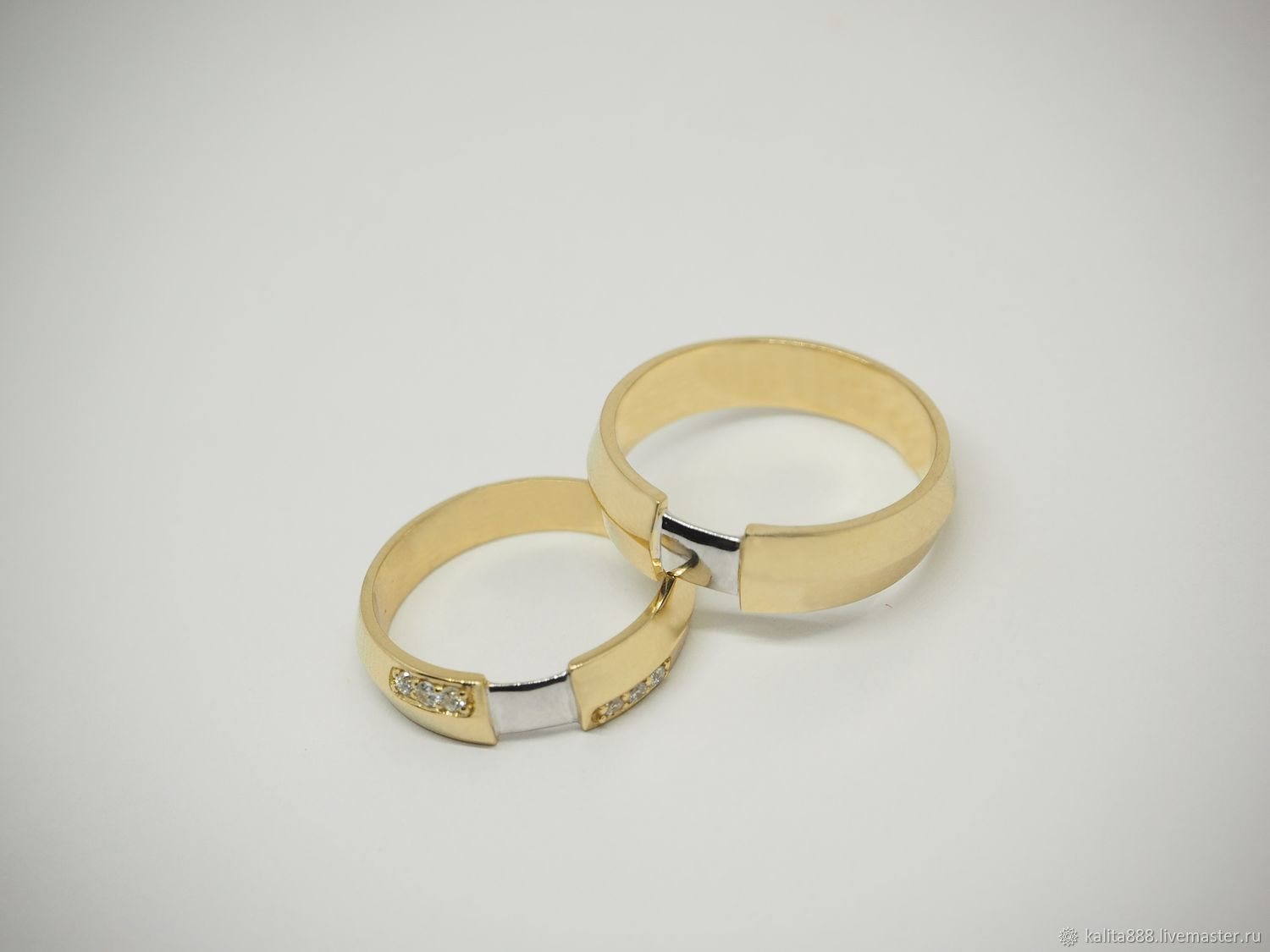 Copy of Wedding rings in white gold, Wedding rings, Moscow,  Фото №1