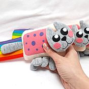 Куклы и игрушки handmade. Livemaster - original item Nyancat nyanket mini, soft toy nyashny cat Nyan Cat. Handmade.