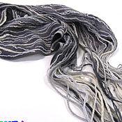 Аксессуары handmade. Livemaster - original item Felted scarf Grey unisex - felt. Handmade.