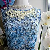 """Одежда ручной работы. Ярмарка Мастеров - ручная работа Топ """"Легенда о голубой розе"""". Handmade."""