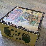 Для дома и интерьера ручной работы. Ярмарка Мастеров - ручная работа чайная шкатулка. Handmade.