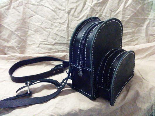 Рюкзаки ручной работы. Ярмарка Мастеров - ручная работа. Купить Маленький рюкзак из натуральной кожи для прогулок из натуральной кожи. Handmade.