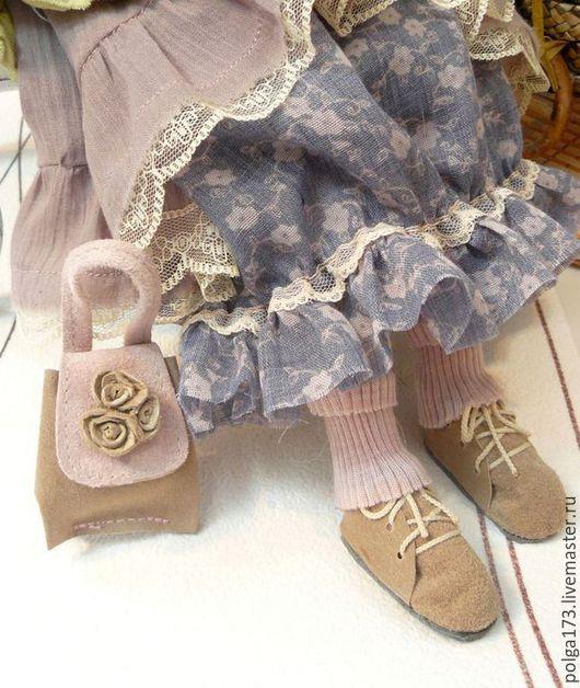 """Одежда для кукол ручной работы. Ярмарка Мастеров - ручная работа. Купить Сумочка """"капучино с зефирками"""". Handmade. Бледно-розовый"""