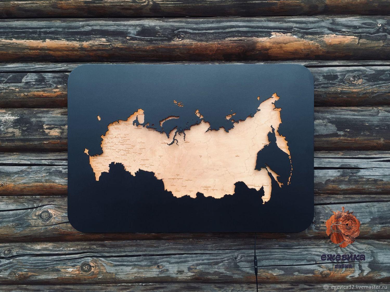 Карта России с подсветкой, Фоторамки, Брянск,  Фото №1