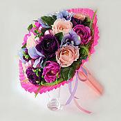 Цветы и флористика ручной работы. Ярмарка Мастеров - ручная работа Букет из конфет. Фиолетовые розы. Handmade.