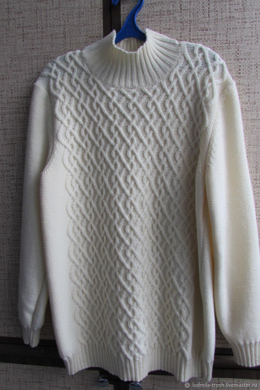 белый женский свитер с аранами, Свитеры, Зеленоград,  Фото №1