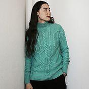 "Одежда handmade. Livemaster - original item Sweater, sweater ""FRESH MINT"" from Italian merino wool. Handmade."