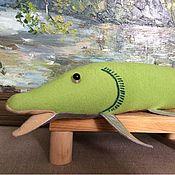 Куклы и игрушки ручной работы. Ярмарка Мастеров - ручная работа Рыба-Щука. Handmade.