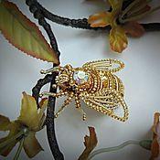 """Украшения ручной работы. Ярмарка Мастеров - ручная работа Мастер-класс по созданию броши """"Золотая пчелка"""". Handmade."""