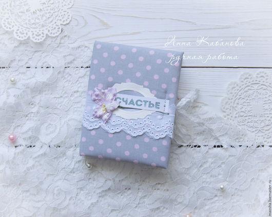 Блокноты ручной работы. Ярмарка Мастеров - ручная работа. Купить Нежный блокнот. Handmade. Серый, подарок, блокнот для девушки, клей