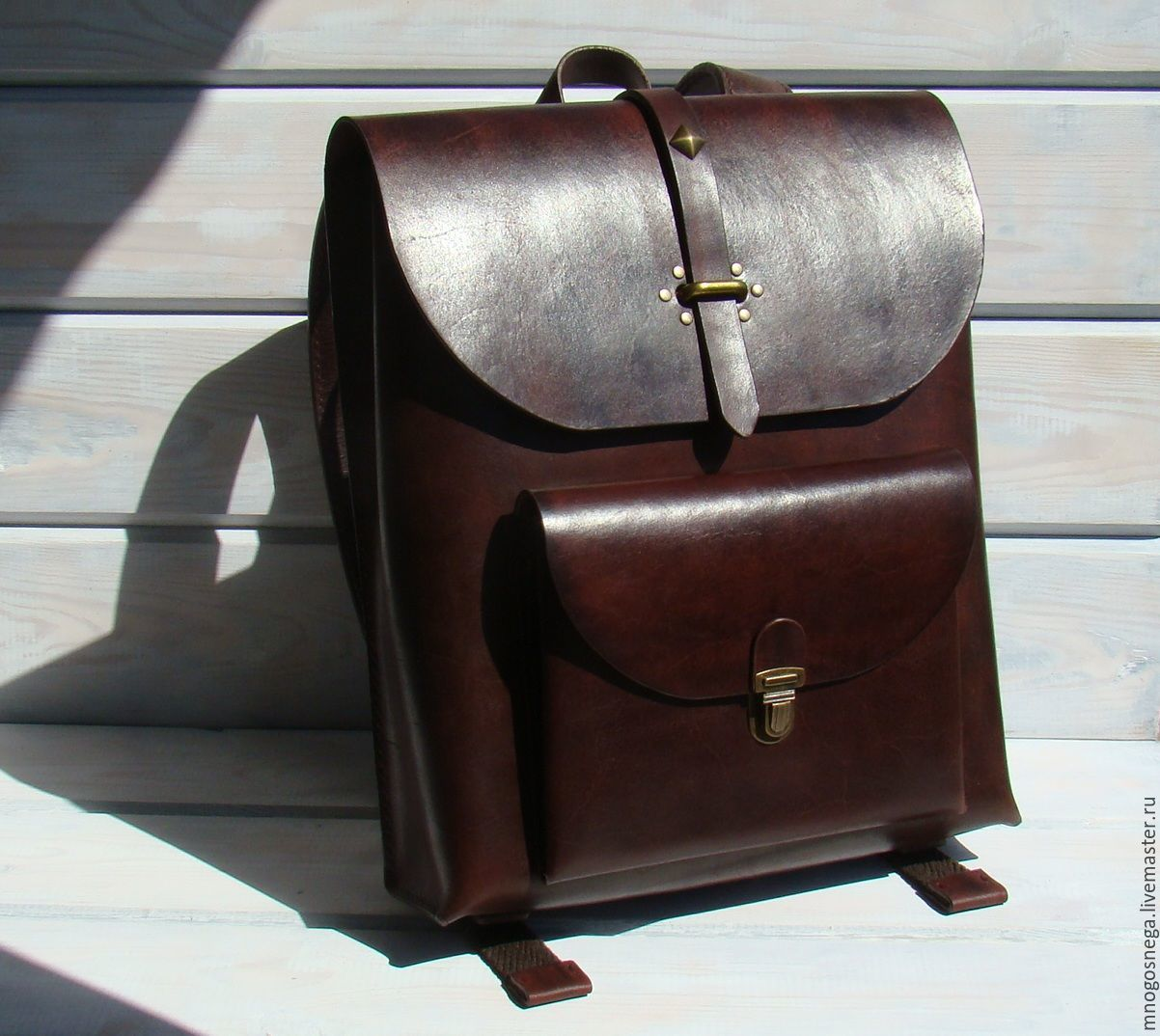 Buy leather backpack men's trend. - brown, solid, backpack leather ...