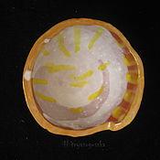 Посуда ручной работы. Ярмарка Мастеров - ручная работа Глубокая керамическая тарелочка ручной работы Блики Солнышка. Handmade.