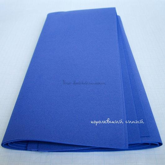Фоамиран ручной работы. Ярмарка Мастеров - ручная работа. Купить ФК006 Фоамиран корейский, цвет королевский синий 0,6 мм, 40х60 см, 1 л. Handmade.