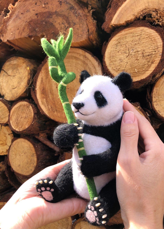 Панда Джиху. Войлочная игрушка сувенир, Войлочная игрушка, Якутск,  Фото №1