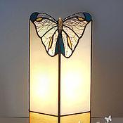 Для дома и интерьера handmade. Livemaster - original item Golden Butterfly Lamp. Decorative lamp made of glass.. Handmade.