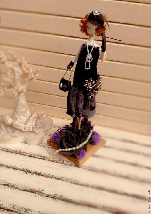 """Коллекционные куклы ручной работы. Ярмарка Мастеров - ручная работа. Купить Текстильная кукла тряпиенс """"Мисс Мими"""". Handmade. Серый"""