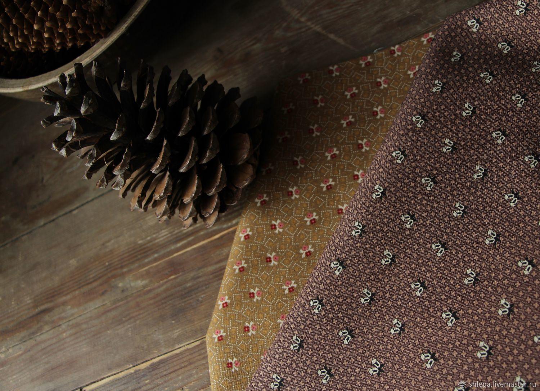 Ткань для пэчворка Узоры в коричневых тонах, Ткани, Санкт-Петербург,  Фото №1