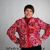 """Одежда ручной работы. Ярмарка Мастеров - ручная работа """"Красно-розовая завитушка"""". Handmade."""