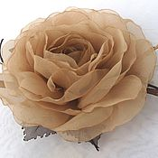 Украшения handmade. Livemaster - original item Clip with roses. Option №2. FABRIC FLOWERS.. Handmade.