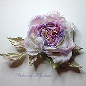 """Свадебный салон ручной работы. Ярмарка Мастеров - ручная работа цветок из шелка открытая роза """"свадебная фантазия"""". Handmade."""