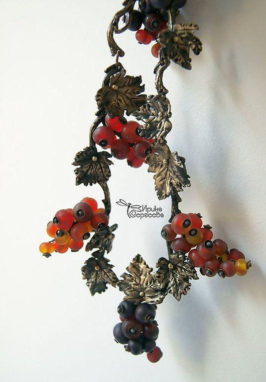 Колье, бусы ручной работы. Ярмарка Мастеров - ручная работа. Купить Колье Королевская ягода - Смородина,  lampwork. Handmade. Lampwork