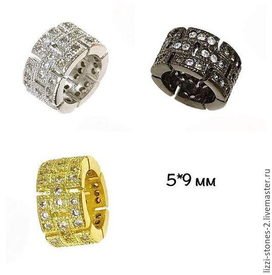 Бусина бочонок резной золото, серебро и чернение (Milano) Евгения (Lizzi-stones-2)