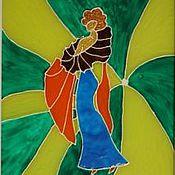 """Для дома и интерьера ручной работы. Ярмарка Мастеров - ручная работа Витражное панно """"Настроение"""". Handmade."""