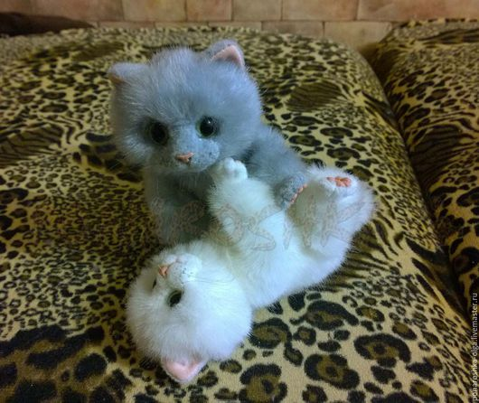 Куклы и игрушки ручной работы. Ярмарка Мастеров - ручная работа. Купить котята. Handmade. Белый, искусственный мех