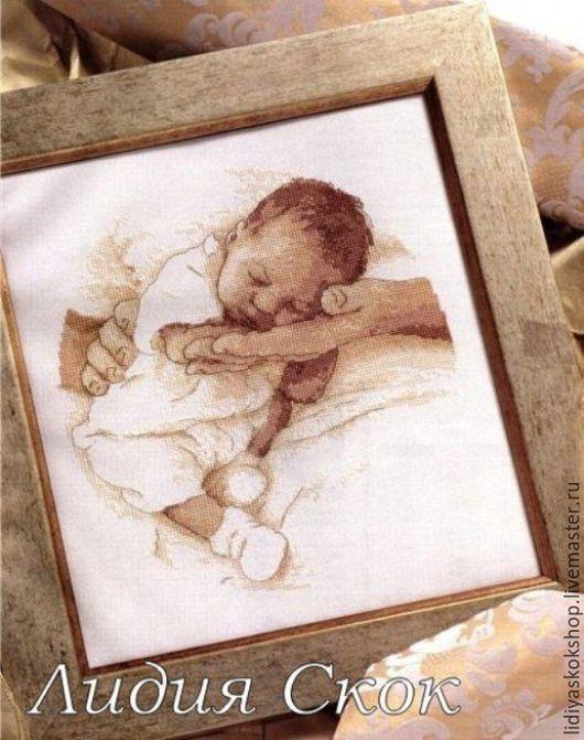"""Детская ручной работы. Ярмарка Мастеров - ручная работа. Купить Метрика детская """"Спящий малыш""""универсальная мальчик/девочка. Handmade. Бежевый"""