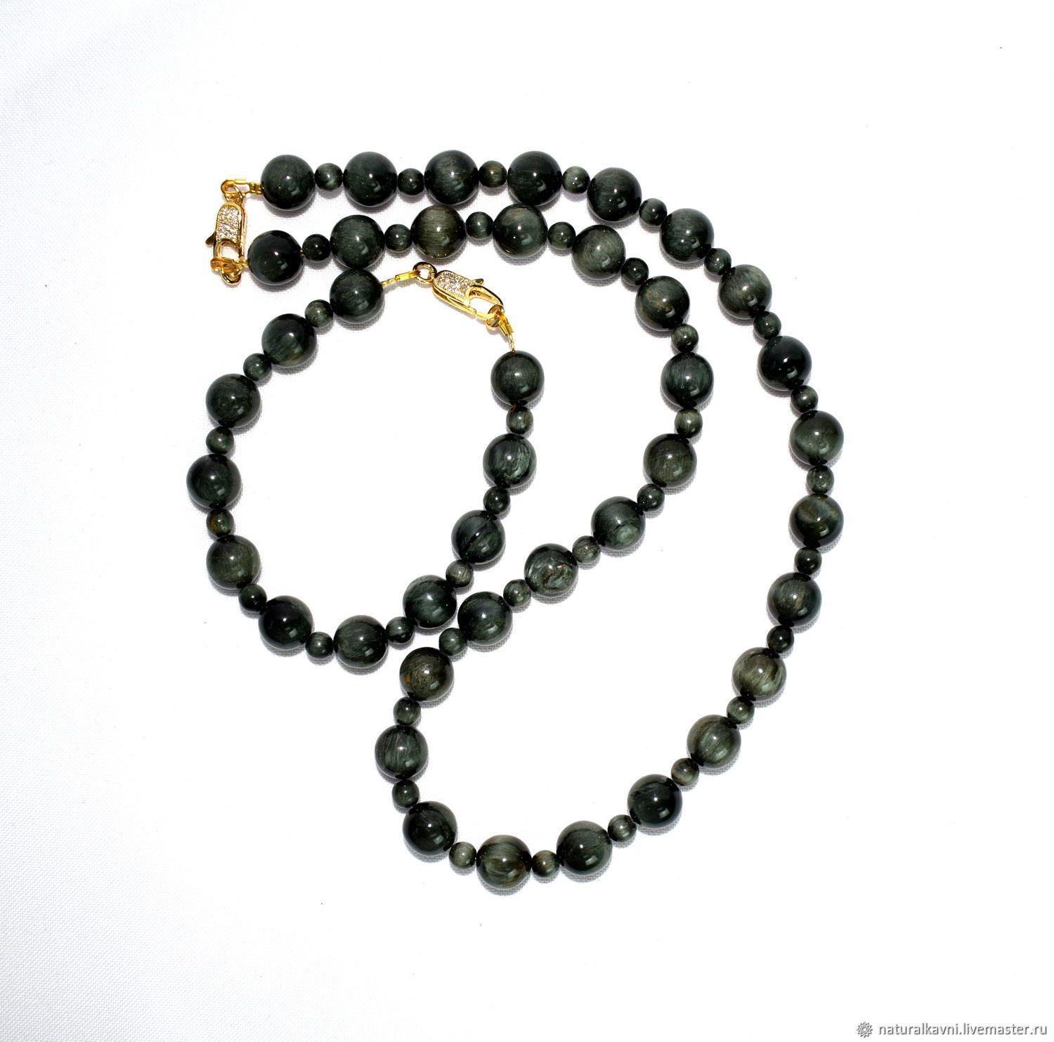 Chrysoberyl necklace and bracelet, Jewelry Sets, Moscow,  Фото №1