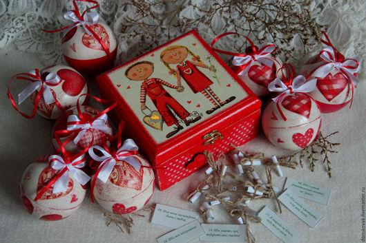 """Подарки для влюбленных ручной работы. Ярмарка Мастеров - ручная работа. Купить Сундучок """"Влюбленные"""" с причинами""""Почему я тебя люблю..."""". Handmade."""
