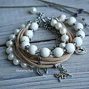 Украшения handmade. Livemaster - original item Beautiful women`s bracelet with pearls