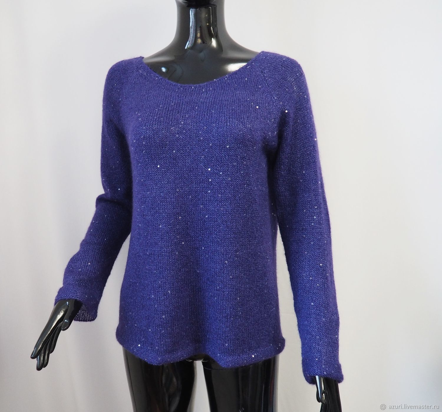 Kid mohair jumper with sequins, Jumpers, Cheboksary,  Фото №1