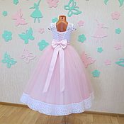 Работы для детей, ручной работы. Ярмарка Мастеров - ручная работа Нарядное платье для девочки. Handmade.