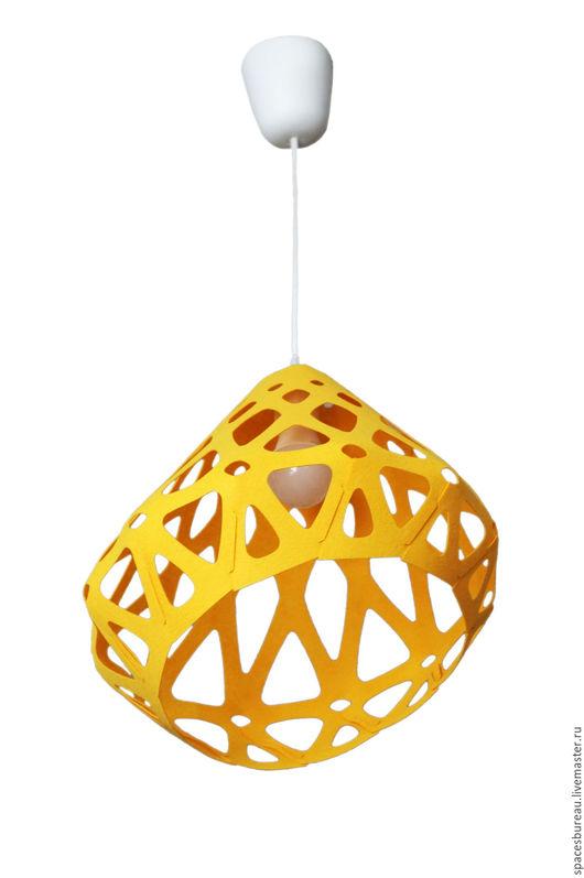 Освещение ручной работы. Ярмарка Мастеров - ручная работа. Купить ZAHA LIGHT желтый  потолочный подвесной светильник. Handmade. Желтый