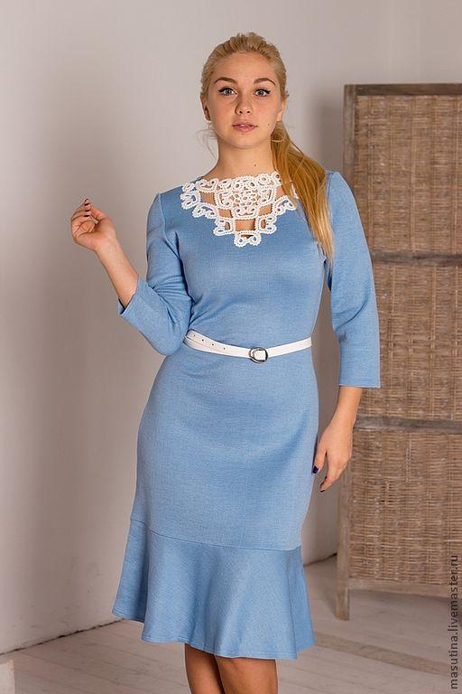 """Платья ручной работы. Ярмарка Мастеров - ручная работа. Купить Платье """"Парижанка Blue"""". Handmade. Голубой, голубое платье"""