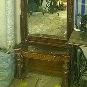 Для дома и интерьера ручной работы. Ярмарка Мастеров - ручная работа Старинное антикварное Русское зеркало с резьбой и столиком. Handmade.